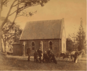 When the church of St Stephen was built in 1865, horses would be a typical way to get to church. The church was amongst bushland.